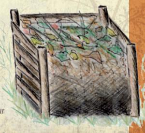 Composter ou quoi faire de ses déchets organiques. @ Aux jardins